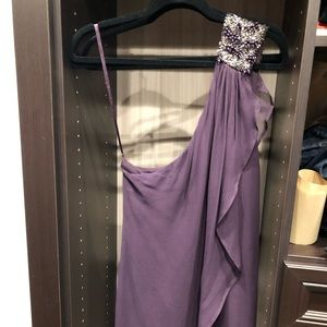 French Connection Purple One Shoulder Mini Dress